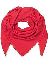 c2882cef1a0759 Becksöndergaard Damen Tuch Mill Rot Flame Scarlet Halstuch Quadratisch Soft  Wärmend Feine Wolle 664001-613