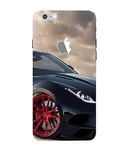 Black Sport Car 3D Hard Polycarbonate Designer Back Case Cover for Apple iPhone 7 Plus