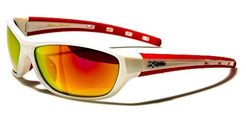 X-Loop Sonnenbrillen Sport - Radfahren - Skifahren - Tennis - Running - Motorrad - Fashion / Mod. Cobalt Weiß Rot