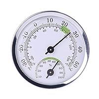 Mini thermomètre et hygromètre en alliage d'aluminium 58 mm pour salle de sauna Haute qualité. Caractéristiques : Plage de mesure de la température : -30 ~ 50 ℃ (-20 ~ 120 ℉), précision : +/-2 ℃. Plage de mesure de l'humidité : 0~100%RH, précision : ...