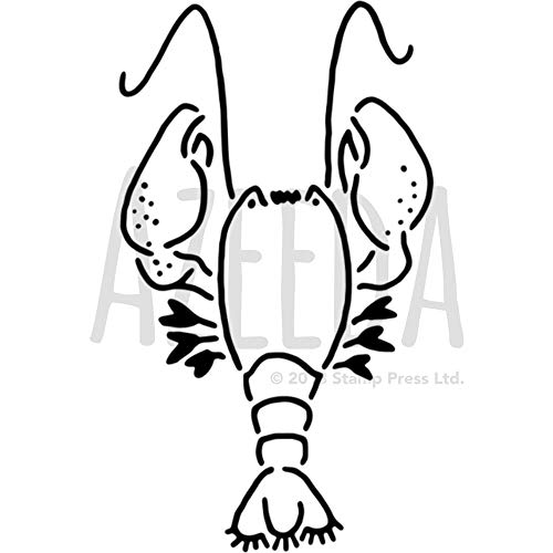 Azeeda A5 'Hummer Meer Kreatur' Wandschablone / Vorlage (WS00033436) (Meer Spielzeug Kreatur)