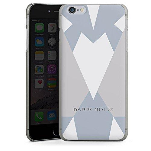 Apple iPhone X Silikon Hülle Case Schutzhülle Dreiecke Muster BARRE NOIRE Hard Case anthrazit-klar