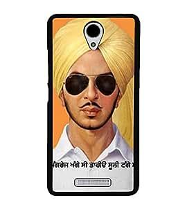 PrintVisa Legandry Bhagat Singh High Gloss Designer Back Case Cover for Xiaomi Redmi Note 2 :: Redmi Note 2 Prime