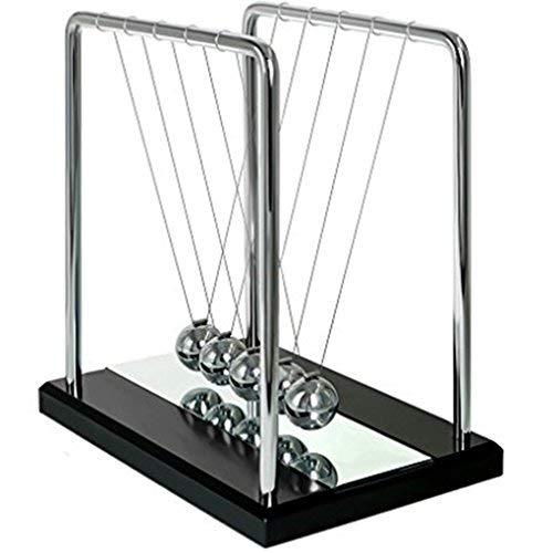 Cuna de Newton, Ailiebhaus Péndulo de Bola Equilibrio con el Espejo Física Juguete Oficina Decoración