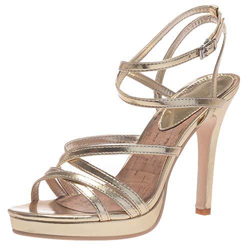 Ms Sandals, New Female Summer Wild Fish Mouth Women Women es Golden High Heels Waterproof Table Winding Buckle Roman Shoes,a,38 Buckle Womens High Heel