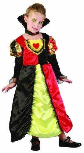 hen Kleinkinder Badeanzug Wunderland-Queen of Hearts Party Kostüm Prinzessin-Age - 2, 3, 4 (Queen Of Hearts Girl Kostüme)