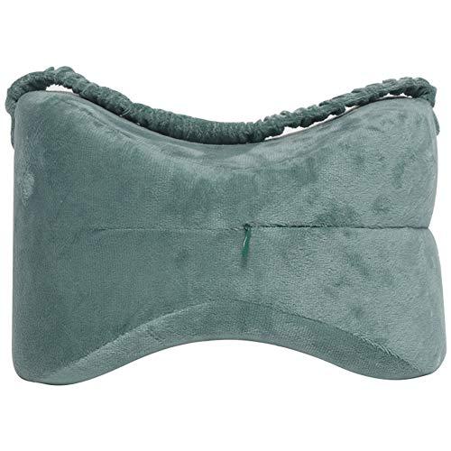 Wgwioo Kniekissen für Seitenschläfer - Ergonomisch für Rückenschmerzen, Ischiasnerv-Schmerzlinderung, Beinschmerzen, Schwangerschaft,Gray,25 * 18 * 18cm
