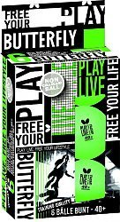 Free Your Lifestyle plastica Ball disponibile a partire da Giugno 2016Butterfly pallina da ping pong Free Your Lifestyle in verde, qualità allenamento, Pallone in plastica 40stuoietta +, 6pz., in confezione di cartone.