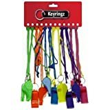 12 - BRIGHTLY COLOURED NEON WHISTLES
