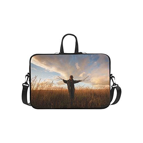 ogelscheuche Muster Aktentasche Laptoptasche Messenger Schulter Arbeitstasche Crossbody Handtasche für Geschäftsreisen ()