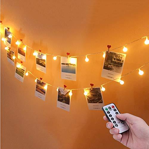 Waterproof Globus Lichterketten mit 5M 50 warmweißen LEDs für Indoor ㄧ Outdoor [Energieklasse A ++] (Lichterketten Outdoor-globus)