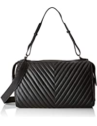c74a1a75cd PIECES Pcflorence Large Bag - Borse a spalla Donna, Nero (Black), 16x24x40