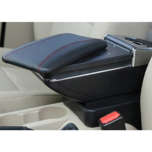 Cobear Auto Mittelarmlehne Box Leder Unterstützung für Focus MK2 2009-2011 Mittelkonsole Armlehne mit Aschenbecher Telefon/Getränke Halter schwarz
