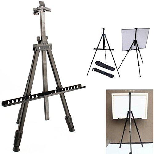 Yosoo Caballete de Pintura Plegable para Campo o Estudio, Trípode Telescópico de Pizarra Blanca con Bolsa de Transporte, Altura Ajustable 52 - 160cm