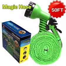 ASkyl 50 ft expandable hose pipe nozzle for garden wash car bike with spray gun and 7 adjustable modes