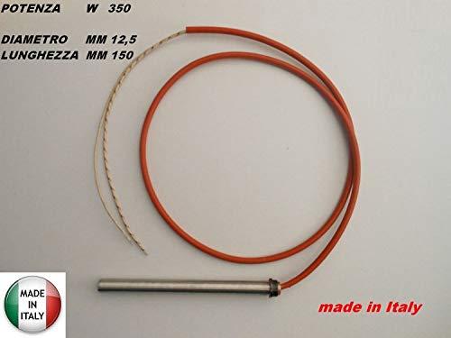Candeletta accensione STUFA PELLET resistenza 12,5 x 150 W 350