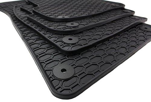 Preisvergleich Produktbild NEU! Gummimatten Audi A6 S6 RS6 4F Allroad S-line Fußmatten Gummi Original Qualität Allwetter Matten 4-teilig schwarz