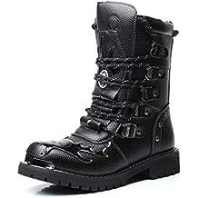 Punk Style - Botas para Hombre Negro Negro 40.5 be9a3cf791d