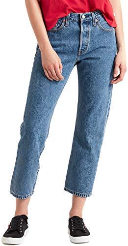 Levi's 501 crop, jeans straight donna, blu (lost cause 0033), w25/l26 (taglia produttore: 25 26)