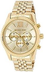 Idea Regalo - Michael Kors Orologio Cronografo Quarzo Donna con Cinturino in Acciaio Inox MK8281
