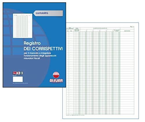 Registro Dei Corrispettivi 48 Pagine Formato cm 24,5x31