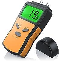 CSL - Feuchtigkeits-Detector/Feuchtigkeitsmessgerät/Feuchtigkeitsmesser für Holz | inkl. Display-Hintergrundbeleuchtung