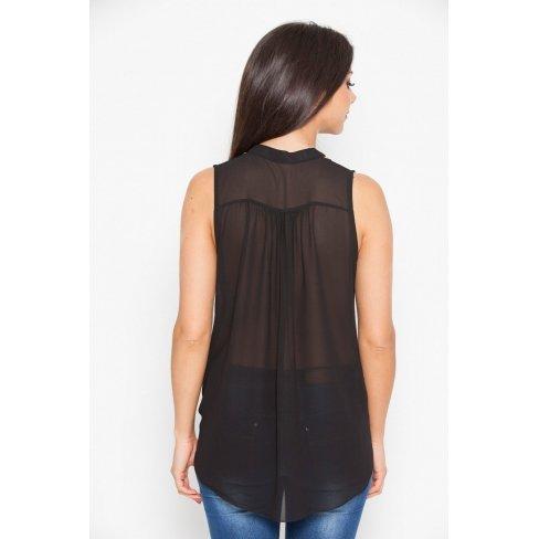 Princesse boutique - Blouse noire nouée Noir