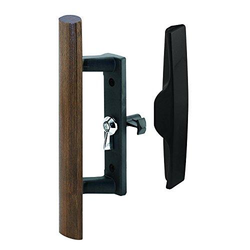prime-line mp1095Schiebetür Druckguss Griff, 3–1/2in, und Holz, schwarz, Haken Stil, interne Lock, 1Set (Schiebetüren Terrasse Vorhänge)