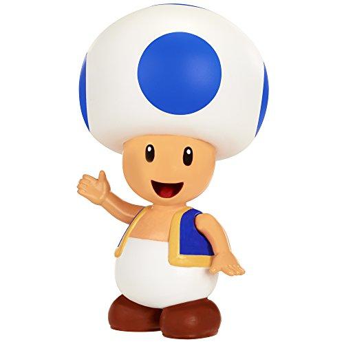 World of Nintendo – Super Mario – Toad Bleu – Figurine Articulée 8 cm
