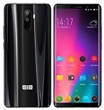 ELEPHONE U Smartphone Libre (Ultra Delgado) - Octa-Core 6GB RAM +128GB ROM,5.99' FHD+ Pantalla Curva (AMOLED), Android 7.1 4G Teléfono, Doble Cámara Posterior 13MP+13MP, Dual SIM GPS Negro
