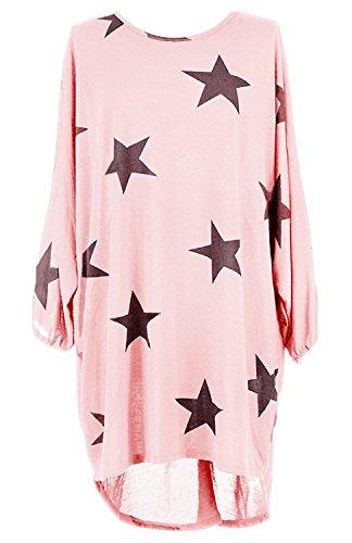 92725252fa1dde Damen Loose Asymmetrisch Sweatshirt Long Top Oversize Pullover Baggy  Oberteile T-shirt Bluse-PIM