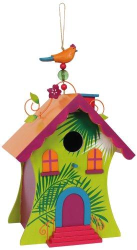 """Vogelhaus """"Hawaii"""" aus bunt lackiertem Holz"""