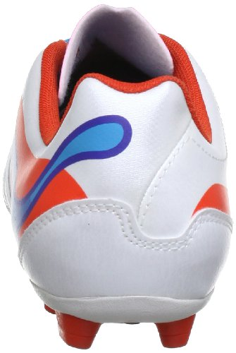 Puma PowerCat 4 r HG Jr 102811, Scarpe da calcio unisex bambino Bianco (Weiß (metallic white-orange.com 02))