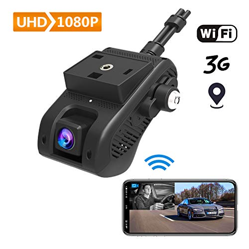 3G/ WiFi Dual Dashcam, Lncoon Autokamera 1080P Full HD Nachtsicht Auto Kamera Vorne Hinten, DVR Car Dash Cam mit G-Sensor Bewegungserkennung, Loop-Aufnahme und Live-Video-Streaming über APP/PC