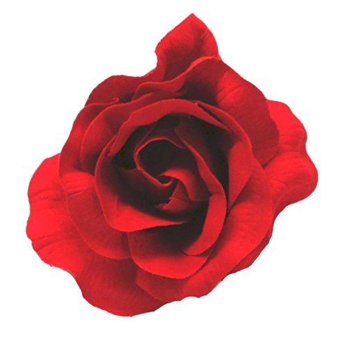(Flamenco Rose) Ein dunkelrot flamenco Stil Stoff Blume Haarclip Flamenco-outfits