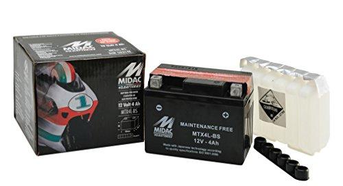 Batteria Moto Sigillata S/Manutenzione Mtx4L Con Acido Predos. Ricambi Moto