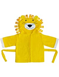 BOMIO | Bademantel Baby & Kleinkinder | Kapuzen-Bademantel aus 100% hautfreundlichem Frottee im lustigen Tier-Designs | waschmaschinenfest und trocknergeeignet | One Size
