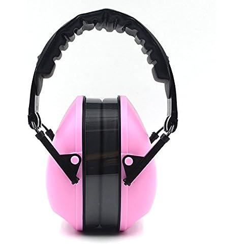 antirumore paraorecchie orecchio udito protezione isolante isolamento acustico Shooting paraorecchie, rosa, D103010 - Pro Tools Noise Reduction