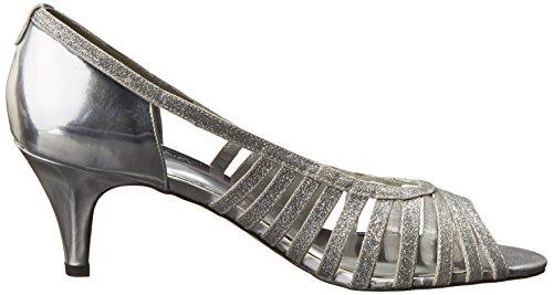 Easy Street Sparkle étroit Synthétique Talons Silver Glitter