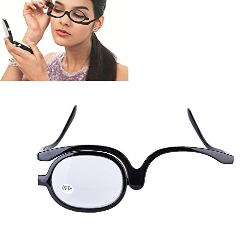 Make-Up Schminkbrille mit klappbaren Brillenglas(Schwarz 400)