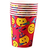 Set Of 10 Sourire Birthday Party visage enfants Drink Cups Cups Party