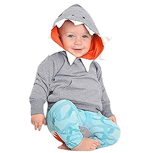 025c196fa Sudadera con Capucha para niños Shark Hat, Toddler Baby Kids Niños Chicas  Long