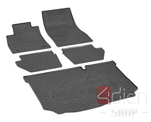 mwanne und Gummifußmatten geeignet für Ford Fiesta Hatchback ab 2017 - EIN Satz ()