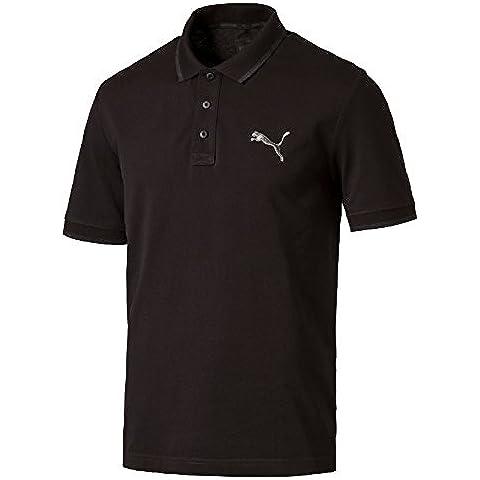 PUMA T-shirt da uomo Hero Polo, Black-MGH, XL, 838303 01