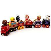 TOYMYTOY Juguetes educativos de desarrollo del juguete magnético de madera del tren 6pcs para los niños y los niños pequeños