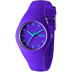Ice-Watch Unisex Quartz Watch with Purple Dial Analogue Display and Purple Silicone Strap ICE.VT.U.S.12