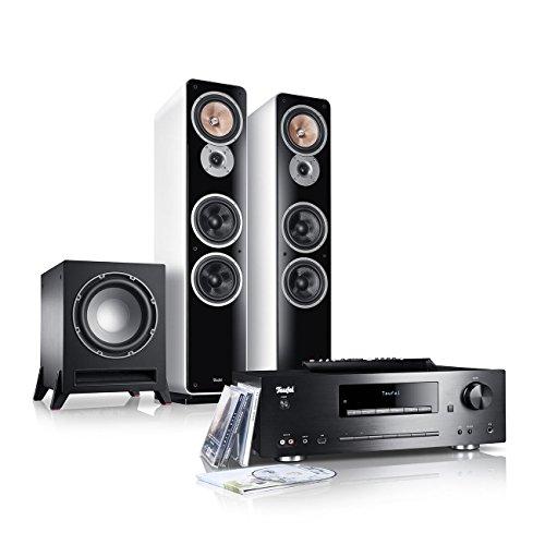 Teufel Kombo 62 Power Edition Weiß Stand-Lautsprecher Sound Bassreflex 3-wege FLAC Hifi Hochtöner Lautsprecher High End Hifi Speaker Stereoanlage