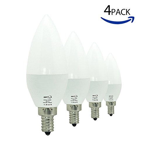 Preisvergleich Produktbild BRTLX C37 LED Birnen Kerzenform E14 7W Ersetzt 60W Warmweiß 3000K 150° Abstrahlwinkel 4er Pack