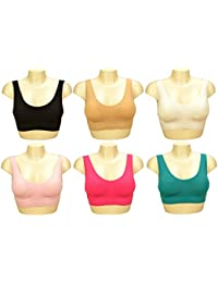 Sport BH ,Push UP, Sporttop, Nahtlos, Form Bustier Top ohne Bügel, Ahh Bra Wohlfühl-BH BH Microfaser Figur