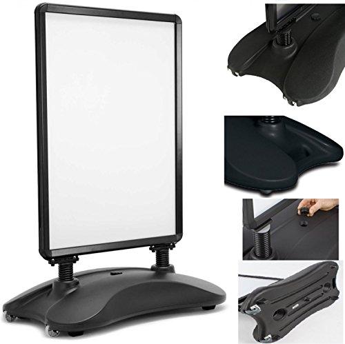 Preisvergleich Produktbild Kesser® Kundenstopper  Plakatständer  Werbetafel  Werbeträger  Gehwegaufsteller | A1 | Standfuß | Farbe: Schwarz